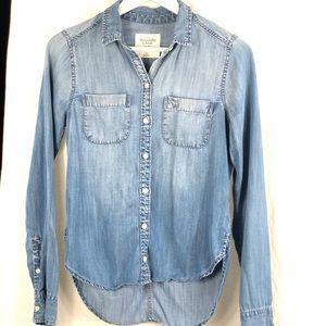 A&F 100% lyocell denim shirt